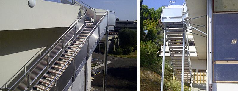 escalier droit gantois